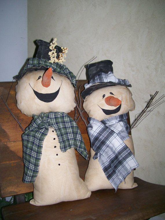 Primitive Snowman Buddies