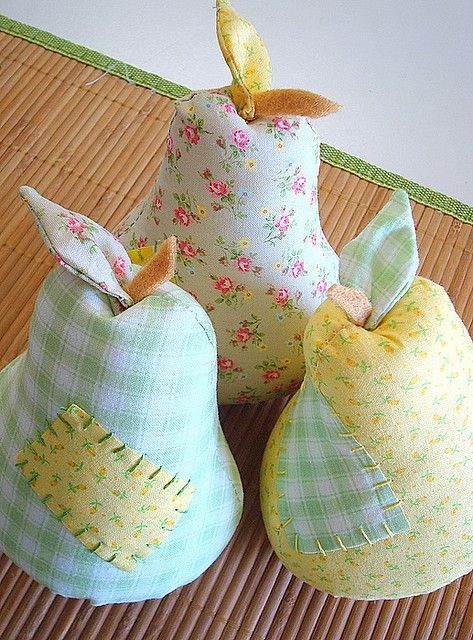 Cute idea, if it were warmer colors instead of pastels... Another use for remnants :)