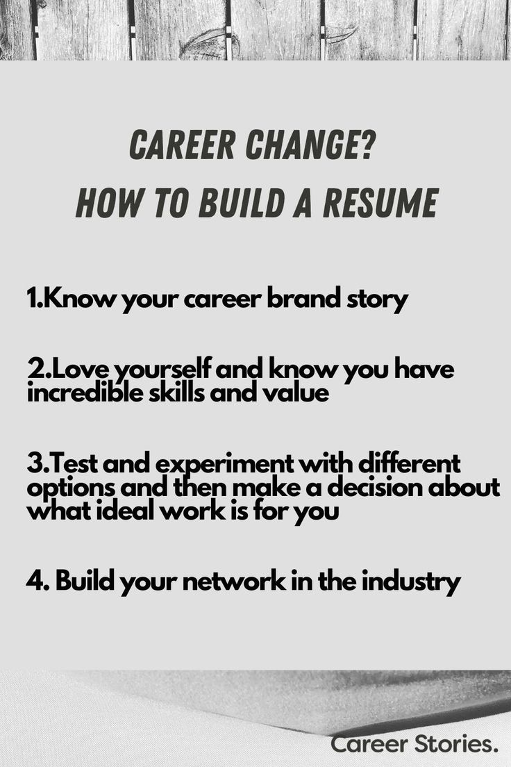 Changing careers how to write your resume cover letter