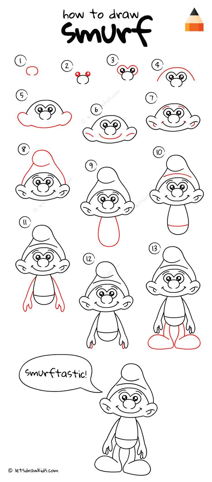 How To Draw Smurf
