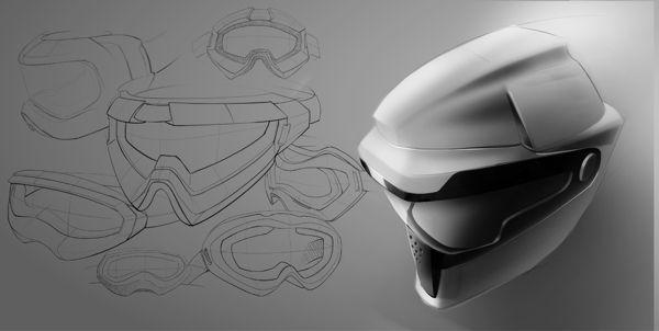 "Ski Helmet + Goggle by Hsuan-Tsun""Shawn"" Wang, via Behance"