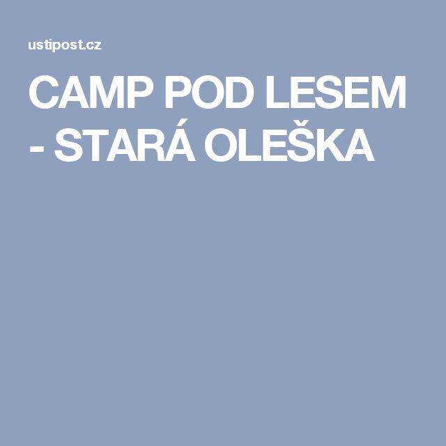 CAMP POD LESEM - STARÁ OLEŠKA