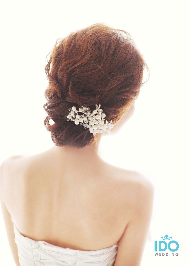 korean wedding hairstyle - low tie