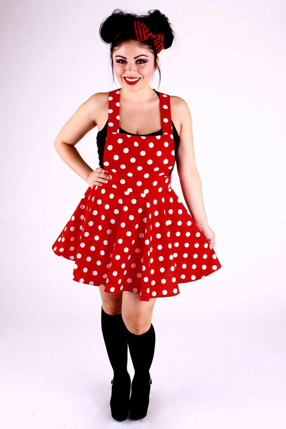 Minnie Polka Dot Overall Skirt by 1138Clothing on Etsy
