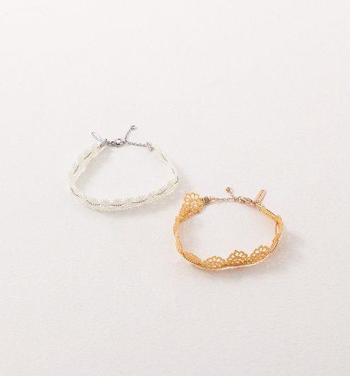 Bracelet+au+crochet+(lot+de+2)