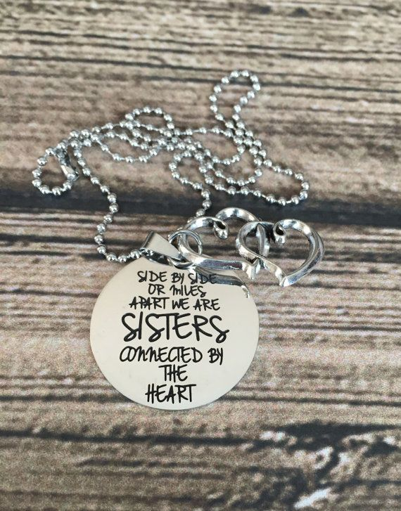 SALE  Side by side or Miles Apart we are sisters by MakeItAMoment