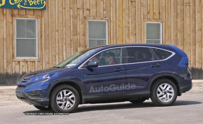 2015 Honda CR-V to Arrive in September With CVT. For more, click http://www.autoguide.com/auto-news/2014/07/2015-honda-cr-v-adding-cvt-expected-arrive-september.html