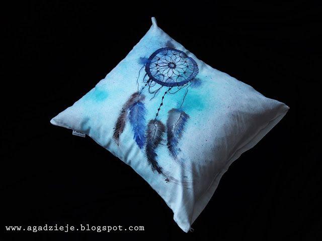 łapacz snów, handmade, painting, watercolour