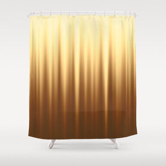 Brown Shower Curtain Striped curtains Solid Yellow Curtain Abstract Curtain Wave Curtain Brown Curtain Nature colors 60x72 inch 71x74 inch by NikaLim on Etsy https://www.etsy.com/listing/250635425/brown-shower-curtain-striped-curtains
