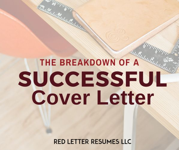 the breakdown of a successful cover letter. Resume Example. Resume CV Cover Letter