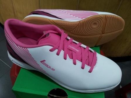 Sepatu Futsal League Supersonic Putih Pink