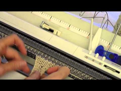 ▶ Machine Knit Cabled Edging by Diana Sullivan - YouTube