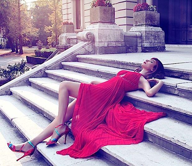 Cori Amenta (Desing e Stylist) wearing Pastore Couture #collection2015 shoes Coriamenta  #pastorecouture #wearing #collezione2015 #red #party #glamour #fashion #shoe #coriamenta #pastorepress #etabetapr #etabetaprendorsement @coriamenta @pastorecouture @etabetapr www.pastore.it