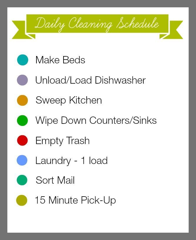 31 Days of 15 Minute Organizing Daily Cleaning Schedule Printable - Organize and Decorate Everything #31days #15minuteorganizing