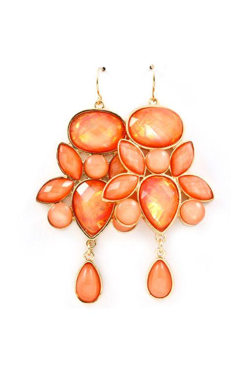 Danica Chandelier Earrings in Illume Sunrise