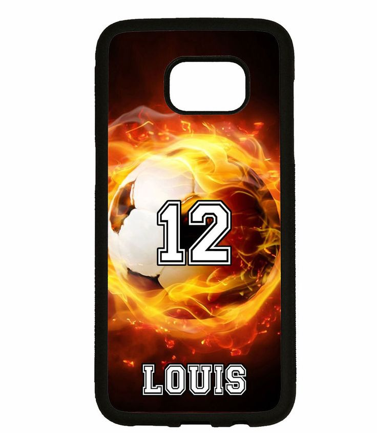 PERSONALIZED NAME NUMBER SOCCER BALL PHONE Case For Samsung Galaxy S7 S6 NOTE 5 #UnbrandedGeneric