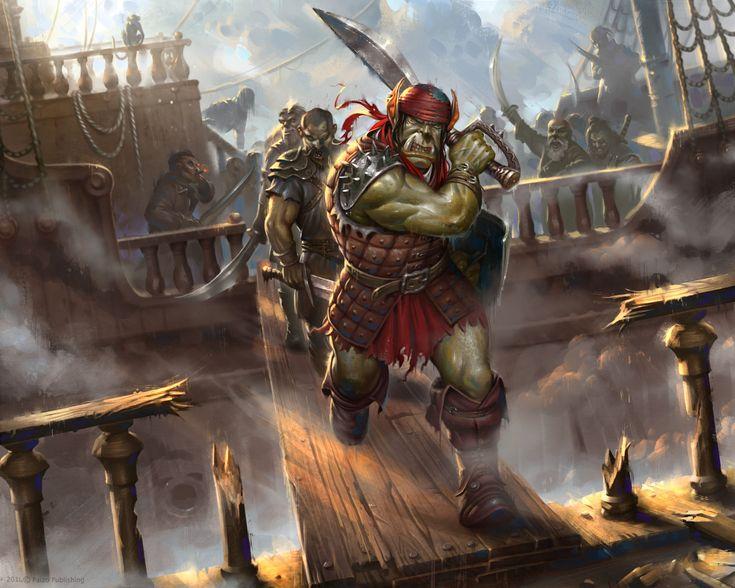 Nasty pirates, Firat Solhan on ArtStation at https://www.artstation.com/artwork/JlnPA