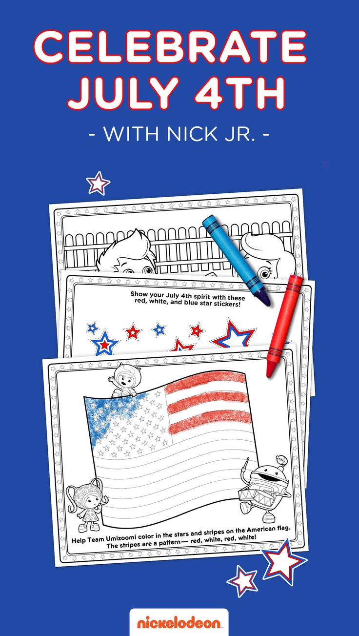 Nick jr summer coloring pages - Celebrate The 4th Of July With Your Friends From Nick Jr By Diving Into All