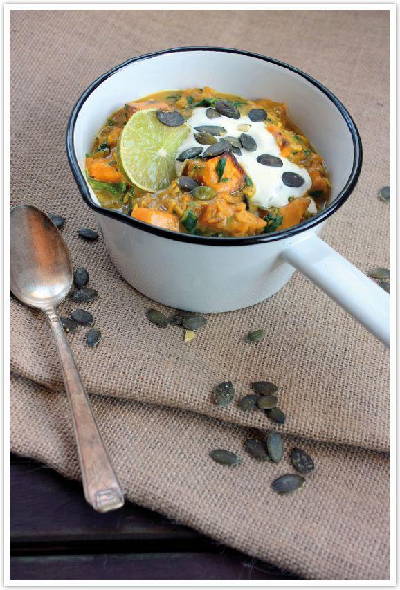 dreierlei liebelei – blog für schönes: Herbst-Liebelei: Heute zeigt euch Dani ihr Rezept für ein leckeres Kürbiscurry mit Linsen