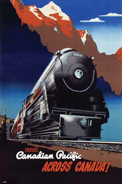 Travel the Canadian Pacific across Canada! (Yes, please!) #vintage #travel #posters #trains #Canada
