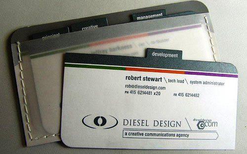 Desain Kartu Nama Unik tidak Biasa | robert stewart diesl design business card