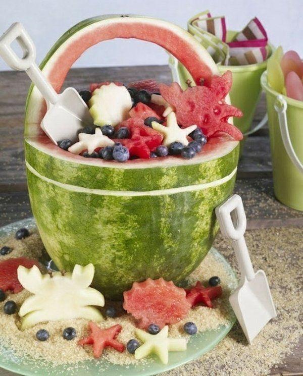 Geburtstag Essen Obstsalad Sommer Früchte originelles Design