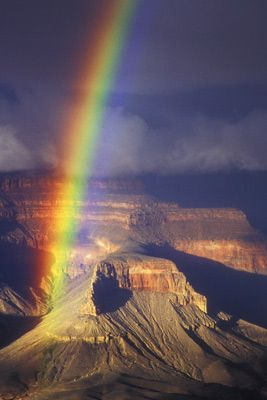 Grand Canyon--I saw so many rainbows at the Canyon. Deserts actually have more rainbows than non-desert places I am told.