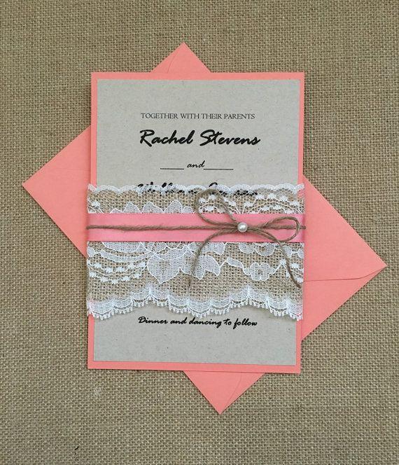 Best 25 Coral invitations ideas – Coral Wedding Invitations