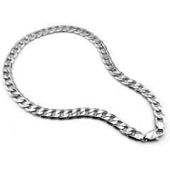 [ 30% OFF ] Men Sterling Silver Necklace Jewelry,genuine Solid 100% Pure Silver Men's Thick Necklace,925 Sterling Silver Chain 12Mm 26 Inch