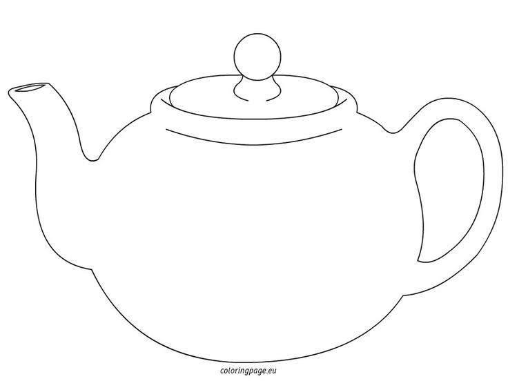 Printable Coloring Pages Teapots Sketch Coloring Page