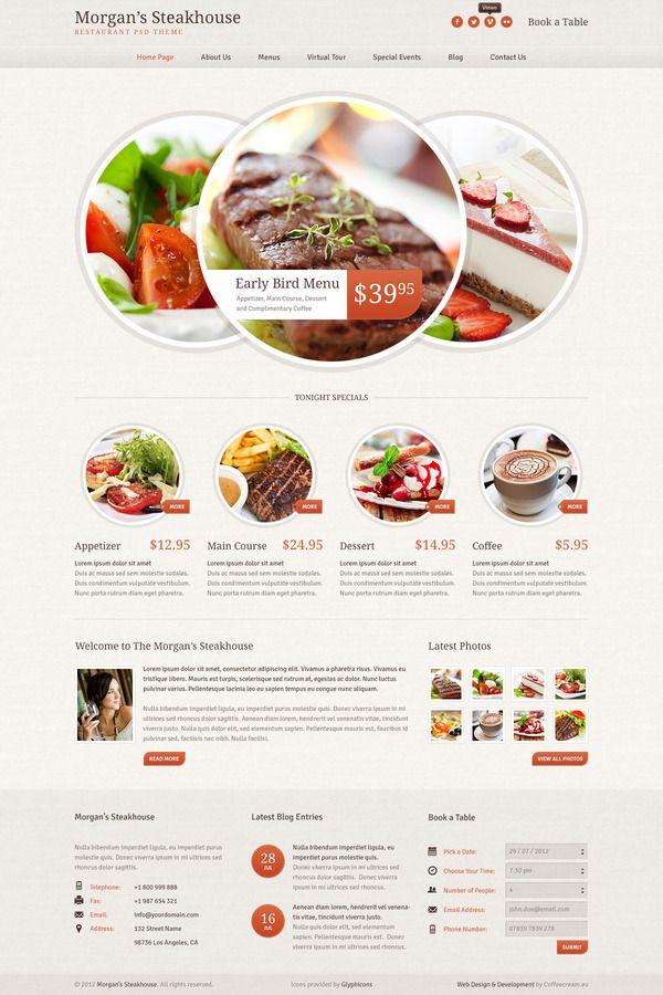 Morgan's Steakhouse by Marcin Banaszek, via BehanceMarcin Banaszek, Design Inspiration, Webdesign, Web Design, Web Layout, Morgan Steakhouse, Website Design, Website Inspiration, Design Layout