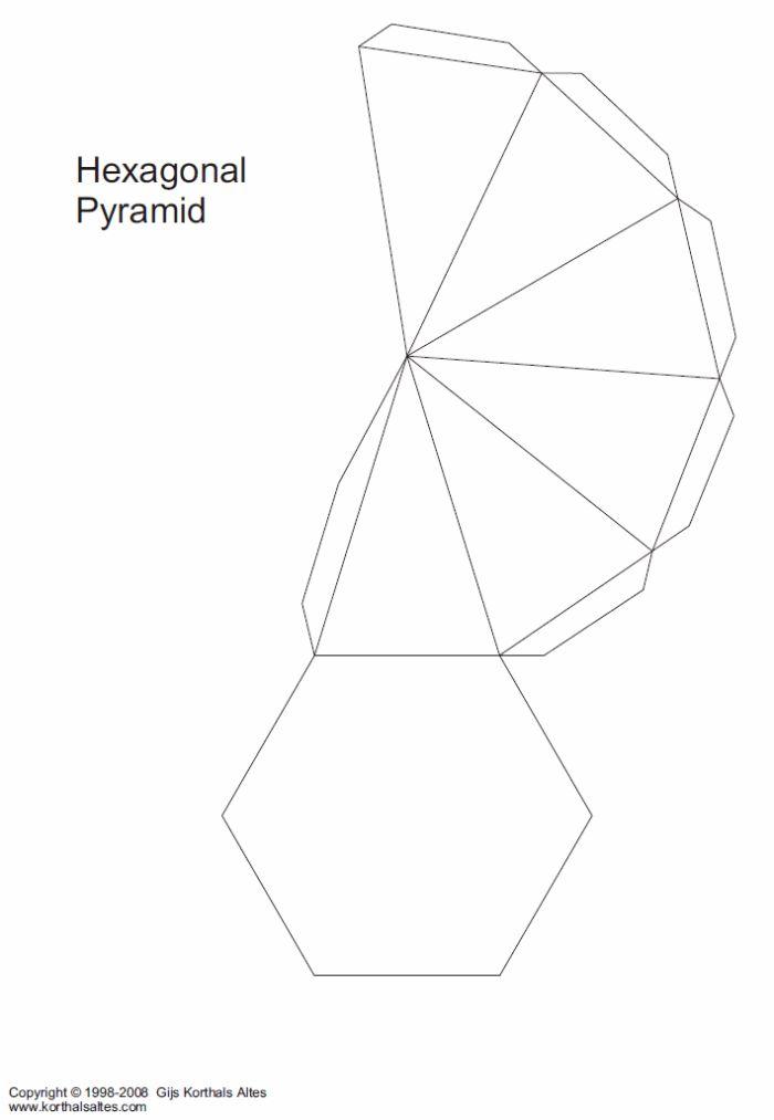 hexagonal pyramid template