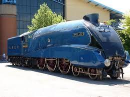 London and North Eastern Railway No 4468 Mallard, fastest steam locomotive,  Designer Sir Nigel Gresley,