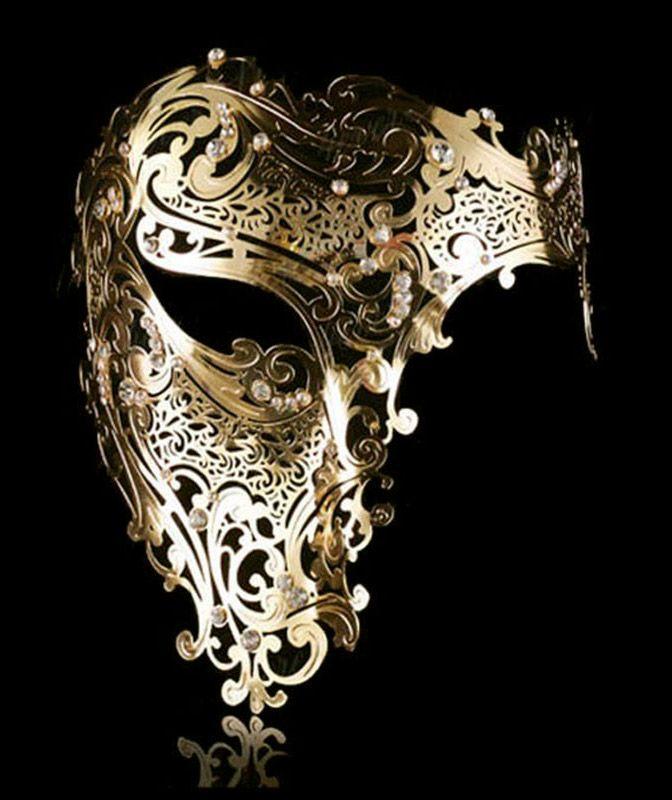 Masque loup venitien fantome de l'opera couleur dore et strass > JAPAN ATTITUDE - ACCMAS108   Shop : www.japanattitude.fr