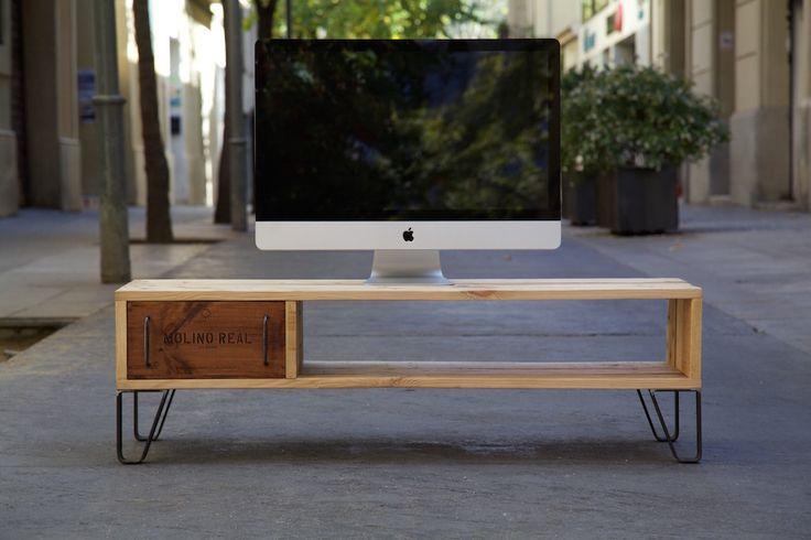 Mueble de TV - Mash / Paletos.net | Muebles de palets reciclados hechos con mucho cariño. Muebles hechos con palets.