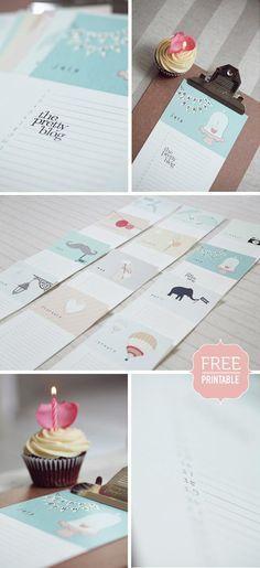 {Free Printable} Geburtstagskalender