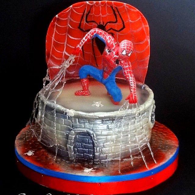 Детский торт Человек паук