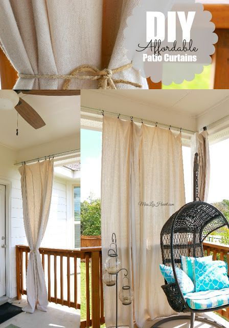 diy cheap easy patio curtains everything can be found in your local hardware store - Patio Curtains Ideas