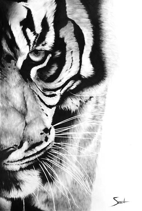 TIGER ART PRINT bengal tiger oil painting tiger by SignedSweet