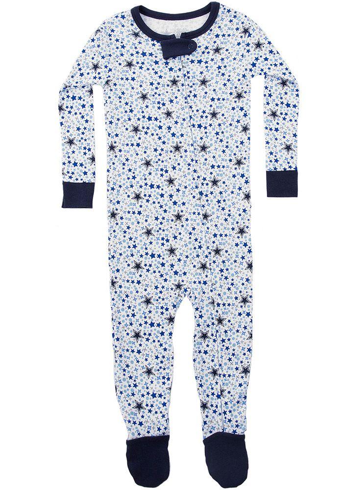 Dallas Cowboys Baby Navy Blue Dobbin Loungewear One Piece Pajamas 41022076 Dallas Cowboys Baby Baby Cowboy One Piece Pajamas