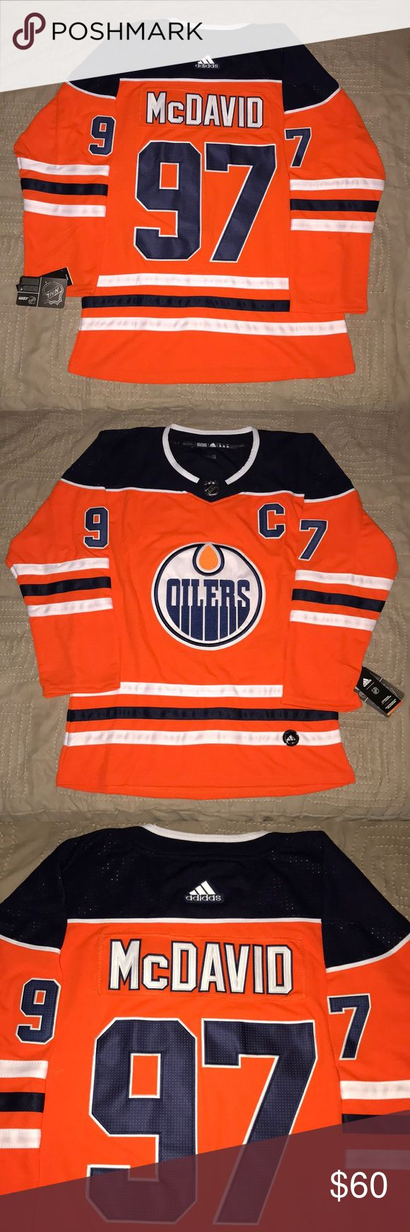 Connor McDavid Edmonton Oilers Adidas Jersey Brand New with Tags! Connor McDavid Edmonton Oilers Adidas Jersey! On ice 2018 Orange Crush Jersey! 100% stitched and embroidered! No marks or blemishes adidas Sweaters V-Neck