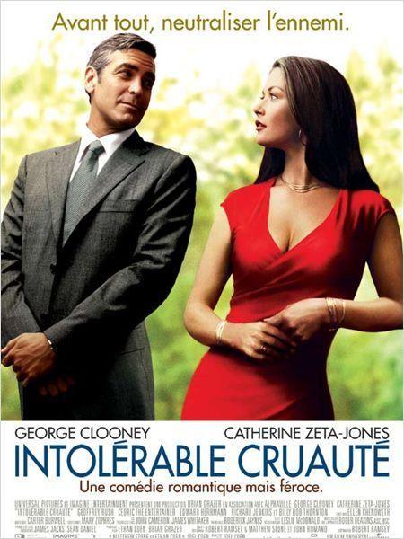Intolérable Cruauté est une comédie romantico-loufoque américaine réalisée par Joel Coen et sorti en 2003. C'est le 10ᵉ film des Frères Coen. Wikipédia (V Télé / 28 mars 2015)
