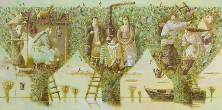 Anna Berezovskaya High Water 100 x 200cm Oil on canvas