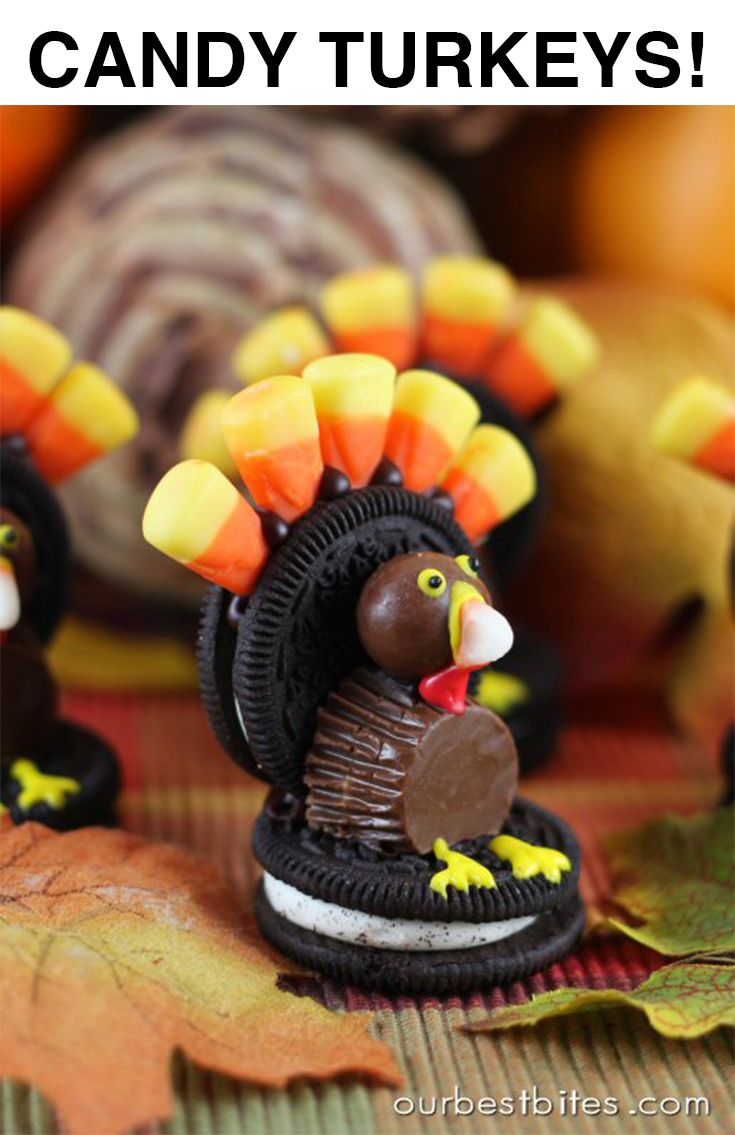 How To Make A Turkey Out Of Candy Thanksgiving Candy