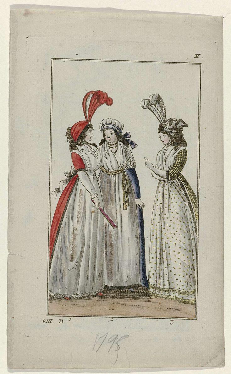 Three ladies Berlinisches archiv der zeit und ihres geschmacks, 1795