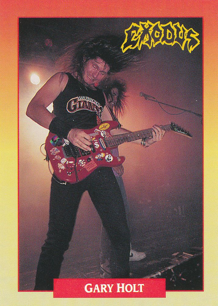 Gary Holt of Exodus - 1991 RockCards #127