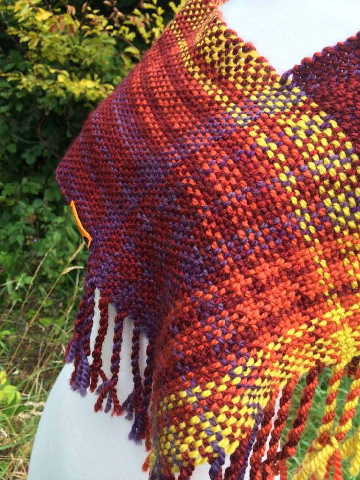 Sunset Cowl handwoven by Weft Blown
