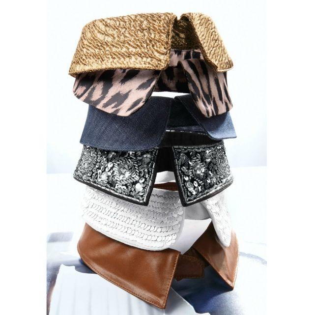 Cols amovibles à partir de chemise, polos, .... + perles, clous, ...