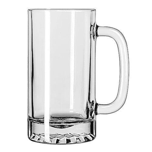 libbey 16oz tankard starburst mug - Glass Beer Mugs