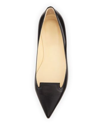 Jimmy Choo | Black pointy flat | Leather | The Veil ... I love, love, love pointy-toed shoes!